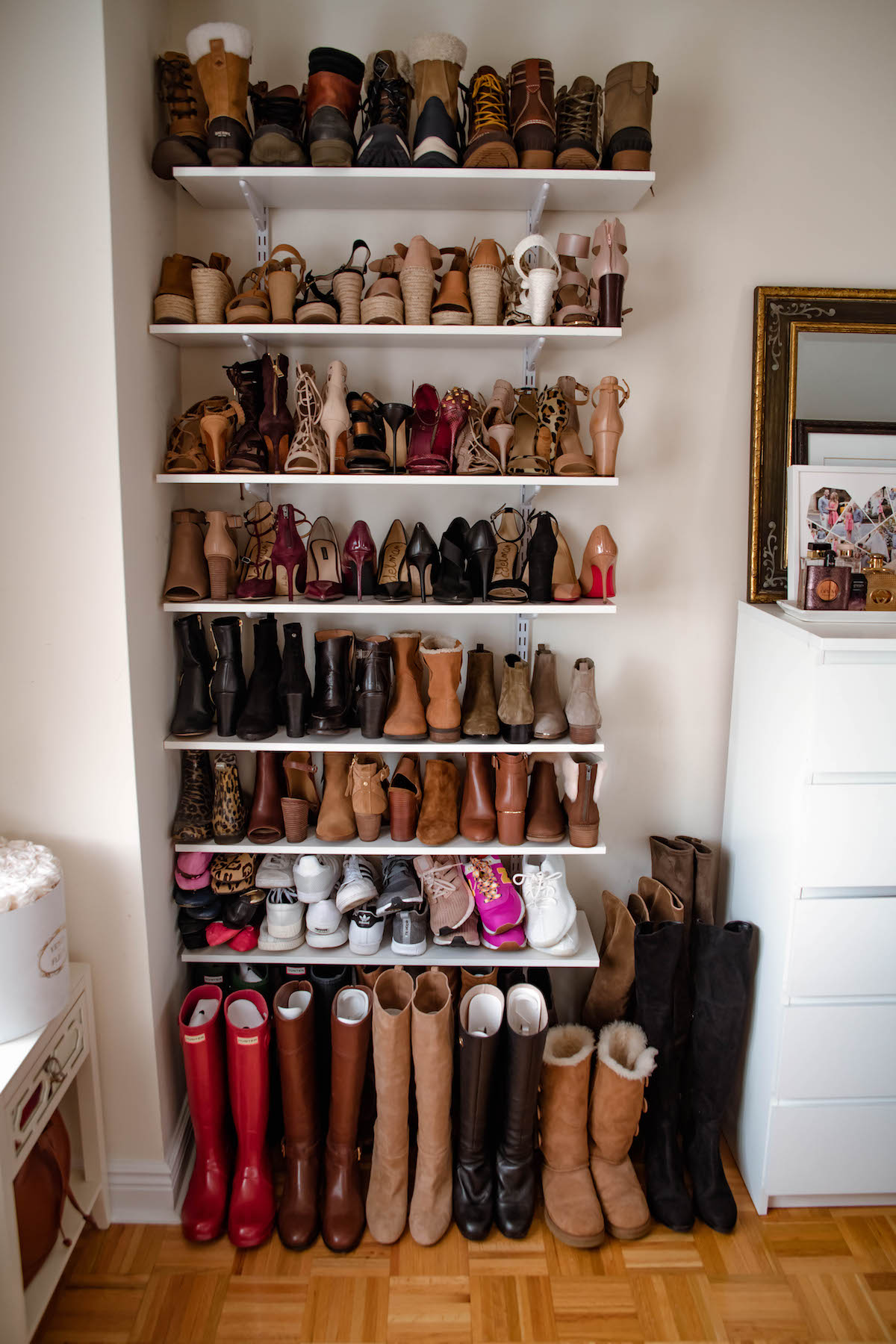 Shoe Wall Organization