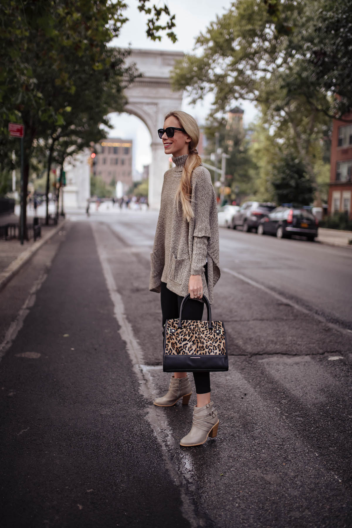 Time & Tru Leopard Satchel