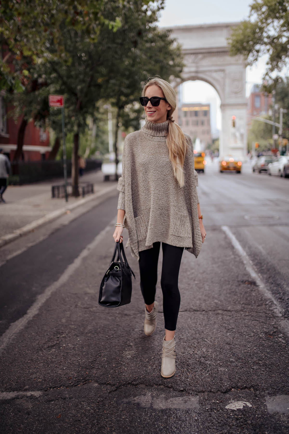 Turtleneck Pocket Poncho