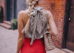 Anthropologie Bow Halter Top