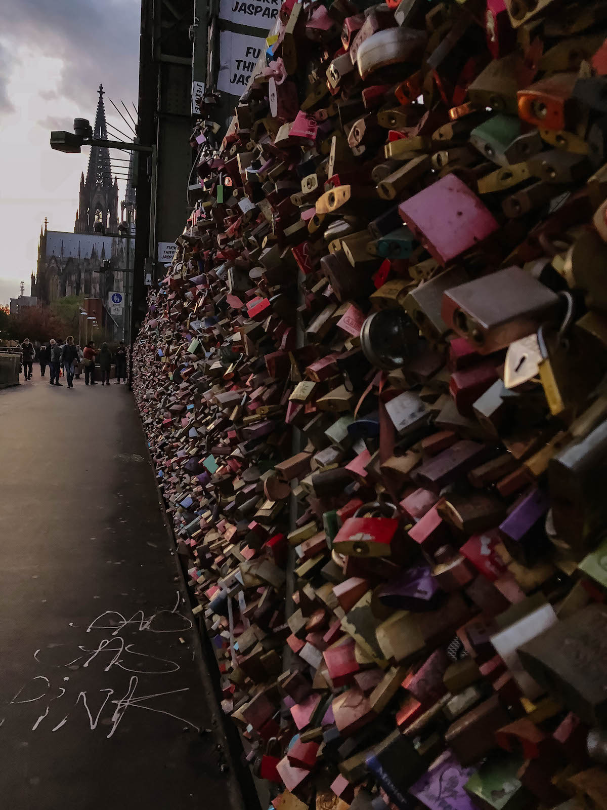 Cologne Germany Lock Bridge