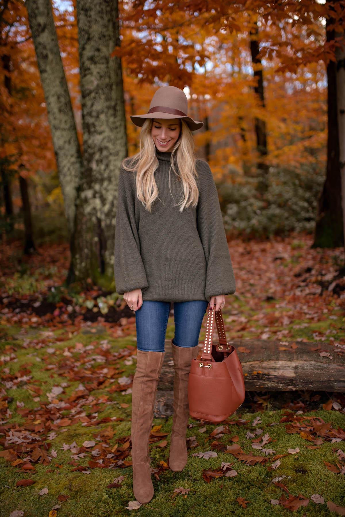 Green Bell Sleeve Sweater