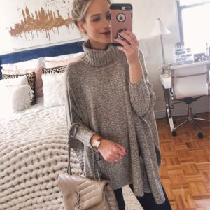 Knit Grey Poncho