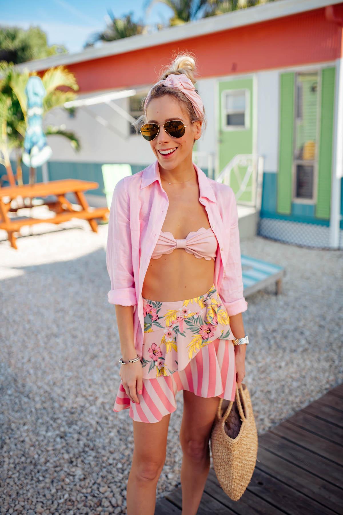 For Love & Lemons Antigua Skirt