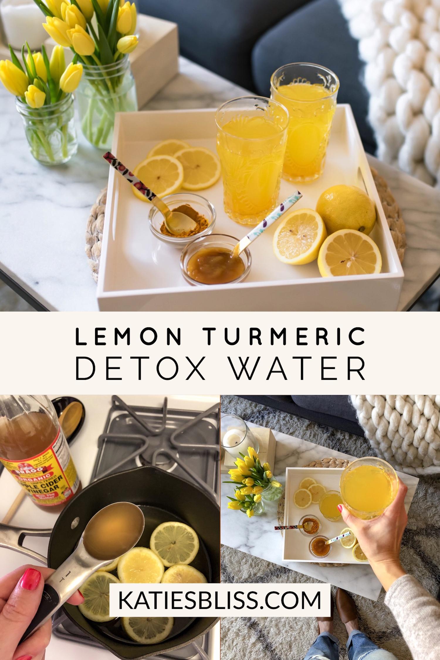 Lemon Turmeric Apple Cider Vinegar Detox Water