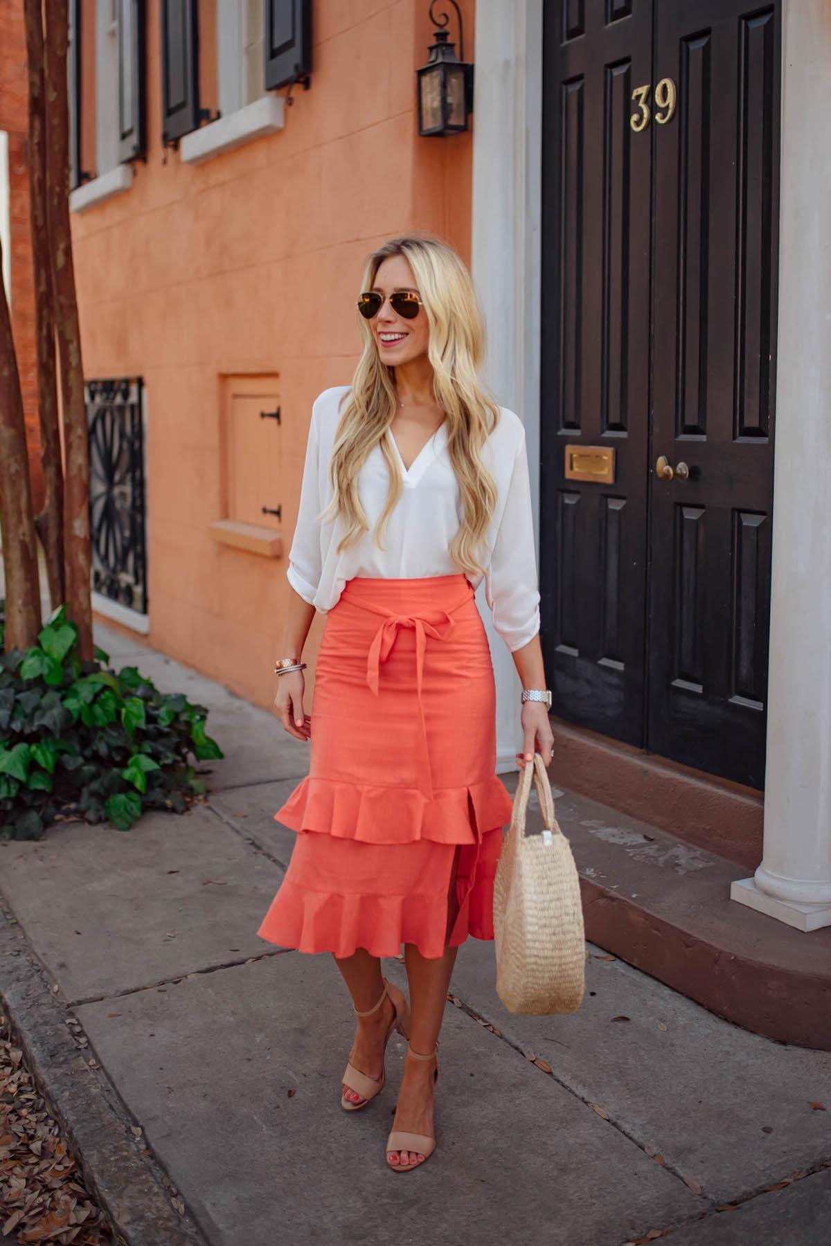 Ruffle Midi Skirt