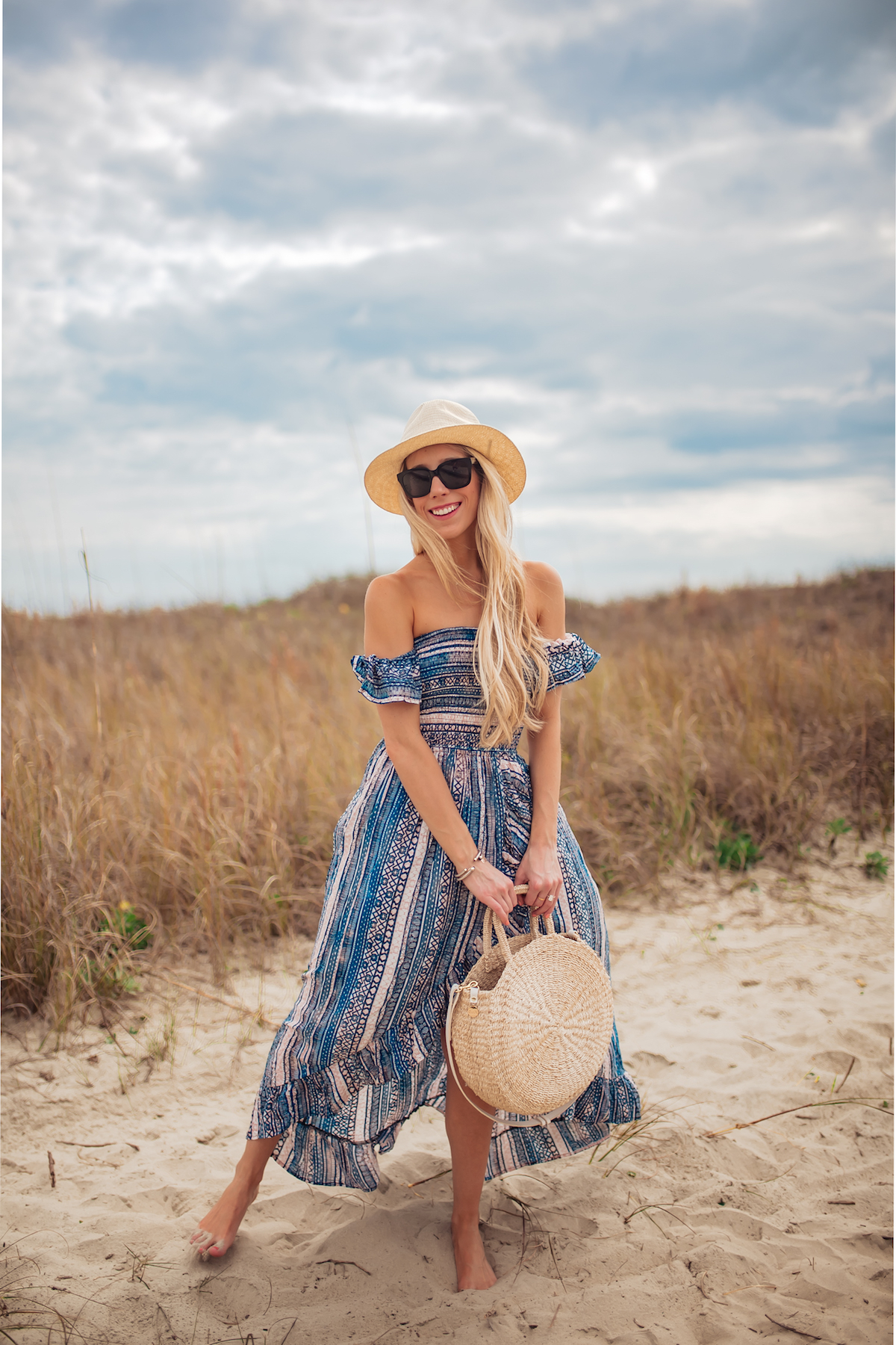 Surf Gypsy Off Shoulder Cover-up Dress