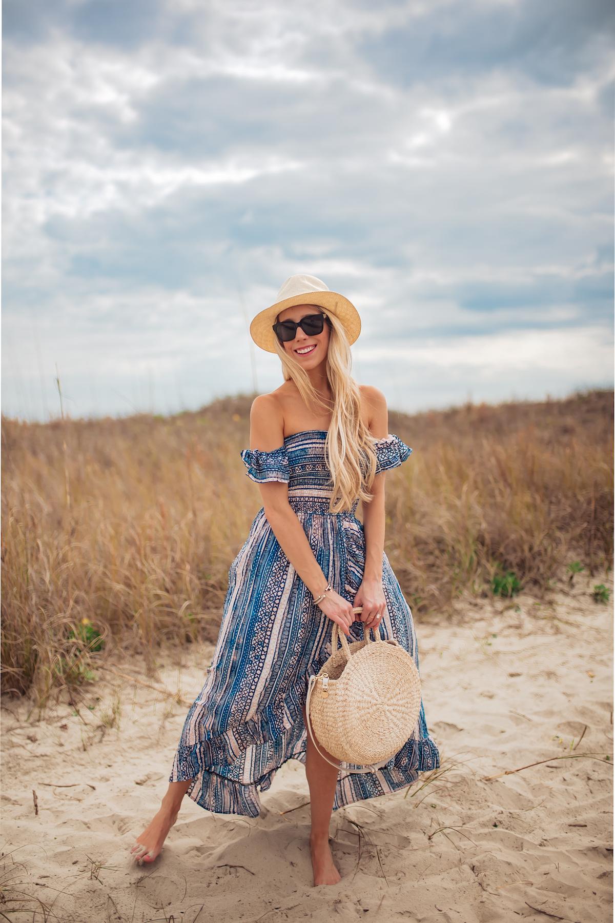 Surf Gypsy Off Shoulder Cover-up Dress