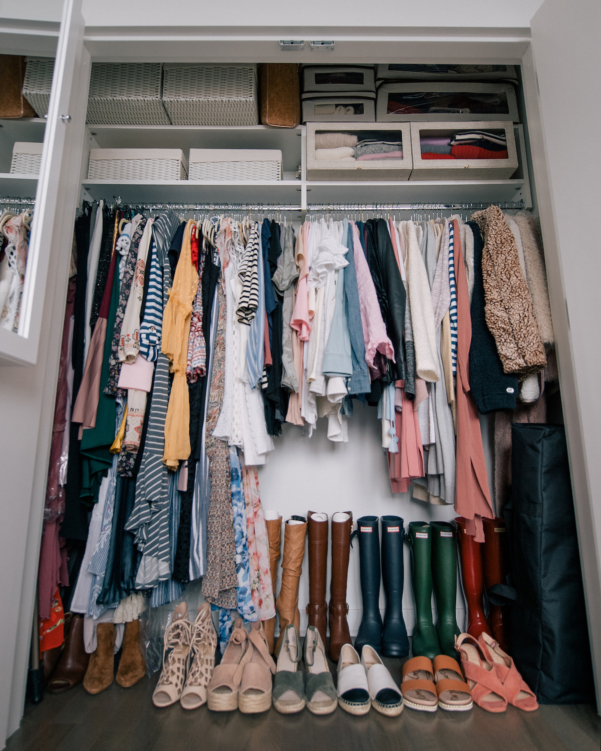 Apartment Update Closet Bathroom Cabinet Organization