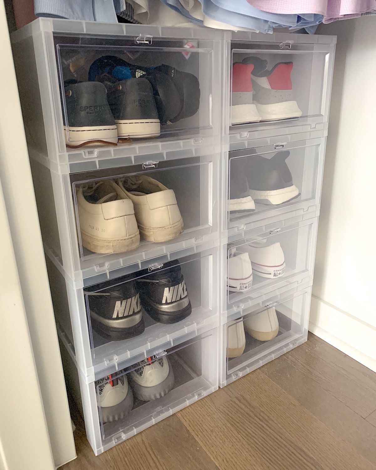 Container Store Drop Front Shoe Boxes