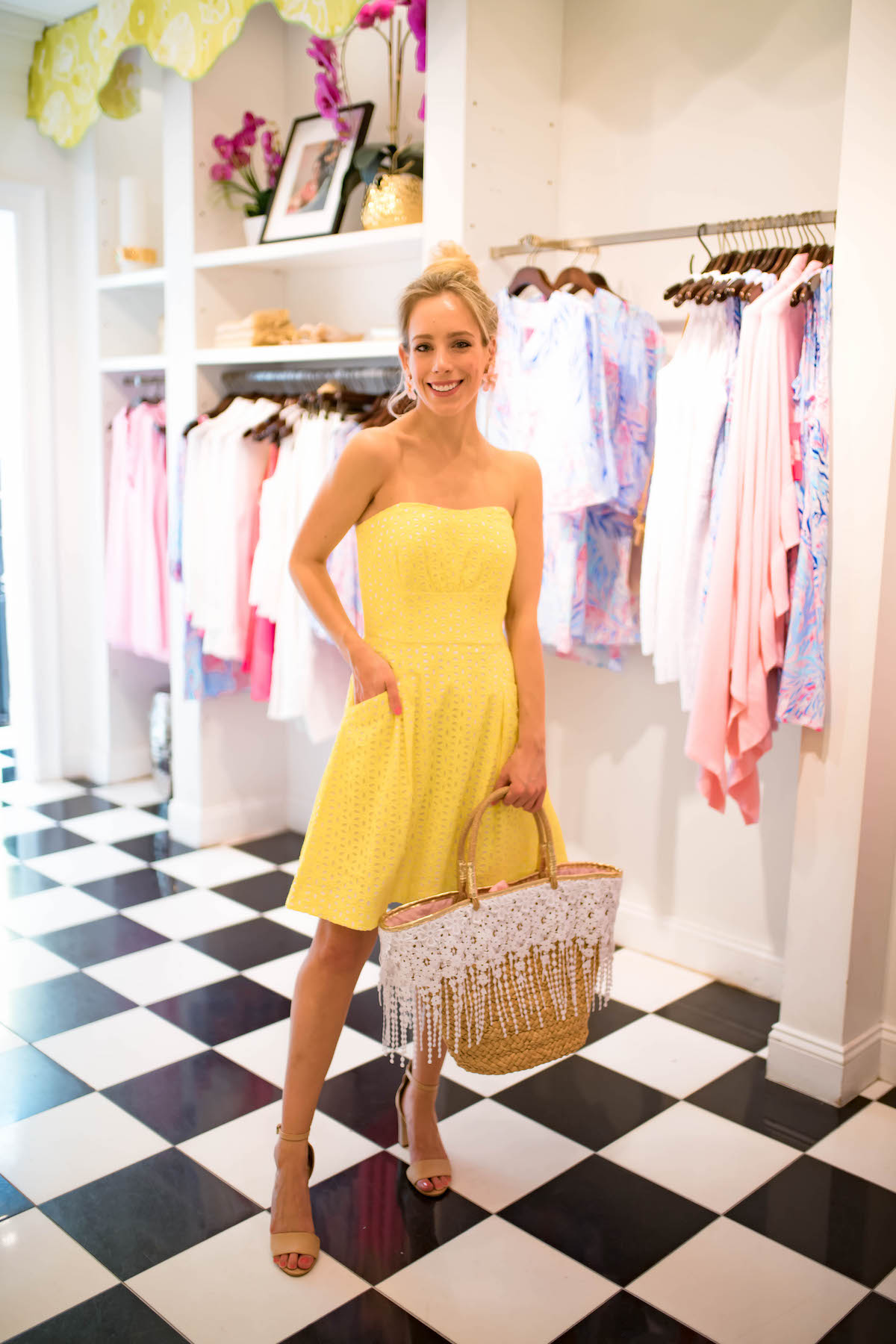 Lilly Pulitzer Strapless Yellow Dress