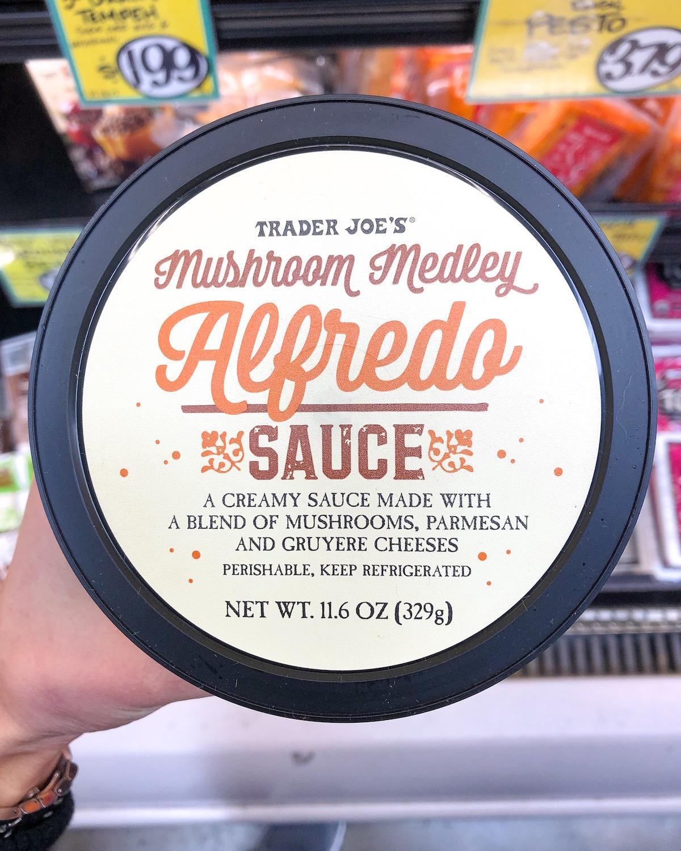 Trader Joes Mushroom Medley Alfredo Sauce