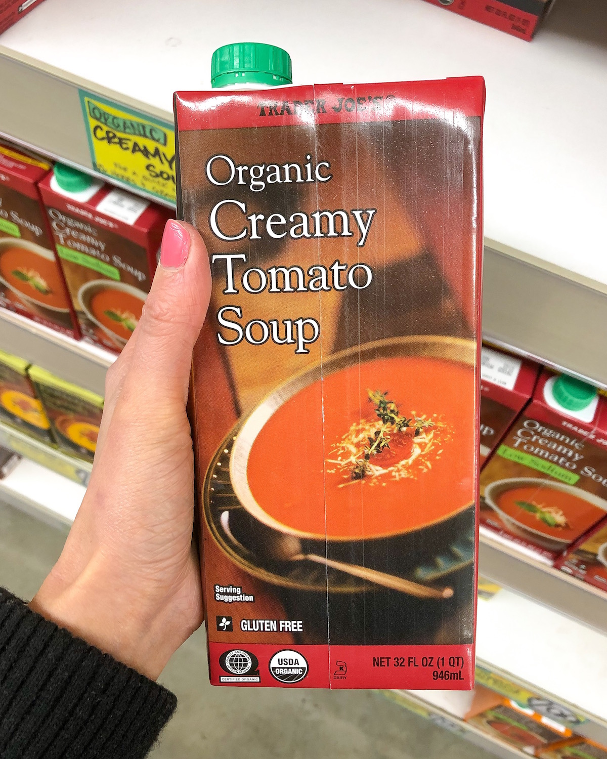 Trader Joes Roasted Red Pepper Tomato Soup