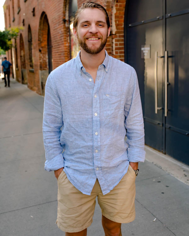 Abercrombie Mens Linen Shirt