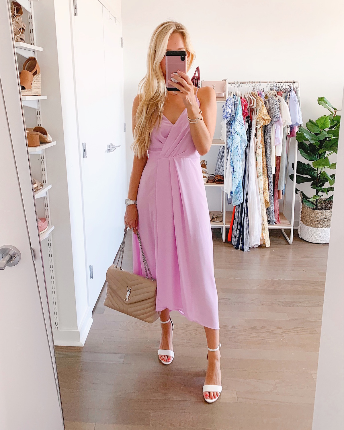 All In Favor Lilac High Low Dress