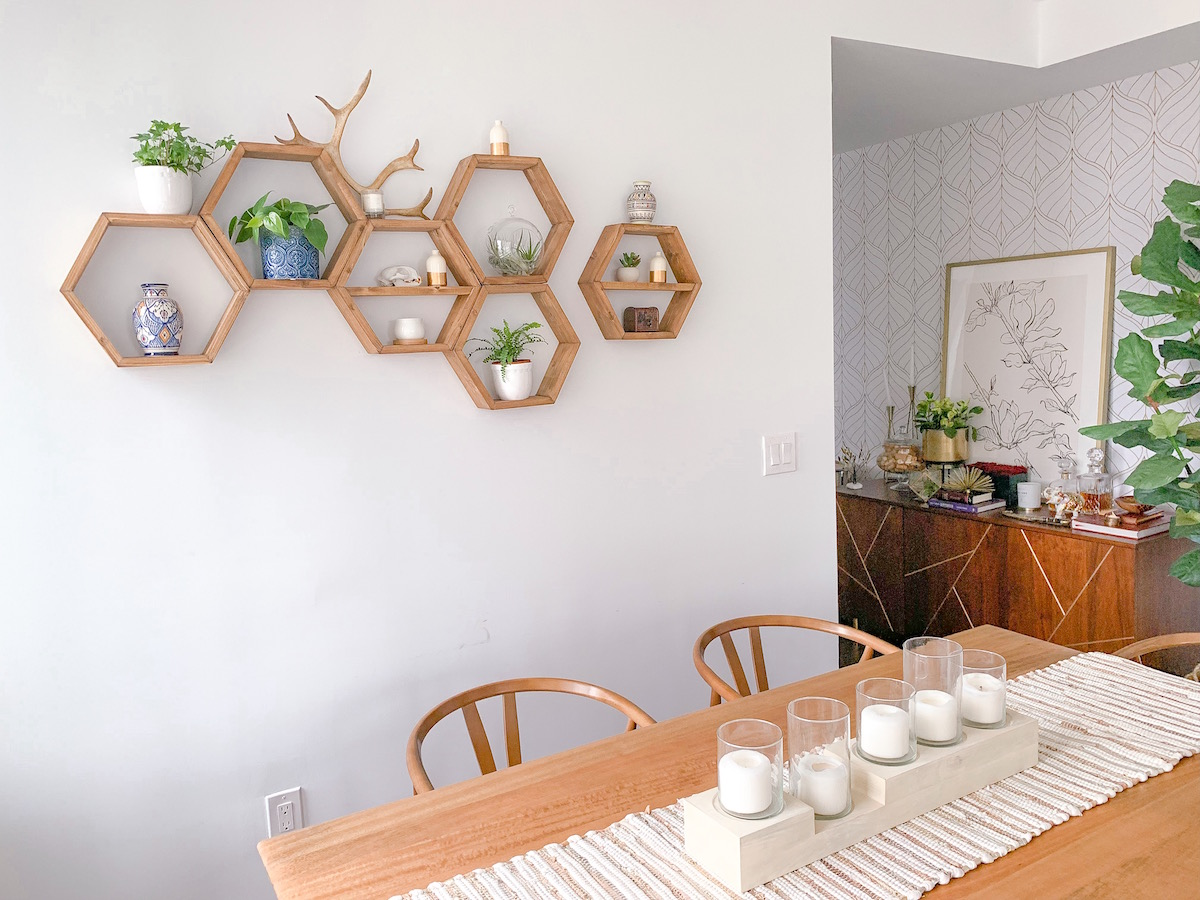 How To Decorate Honeycomb Shelves Katie S Bliss