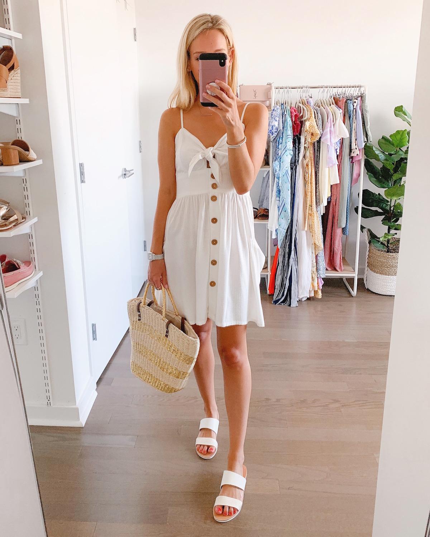 Roxy White Tie Front Dress