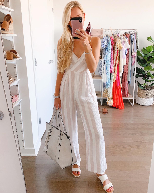 Stripe Linen Jumpsuit
