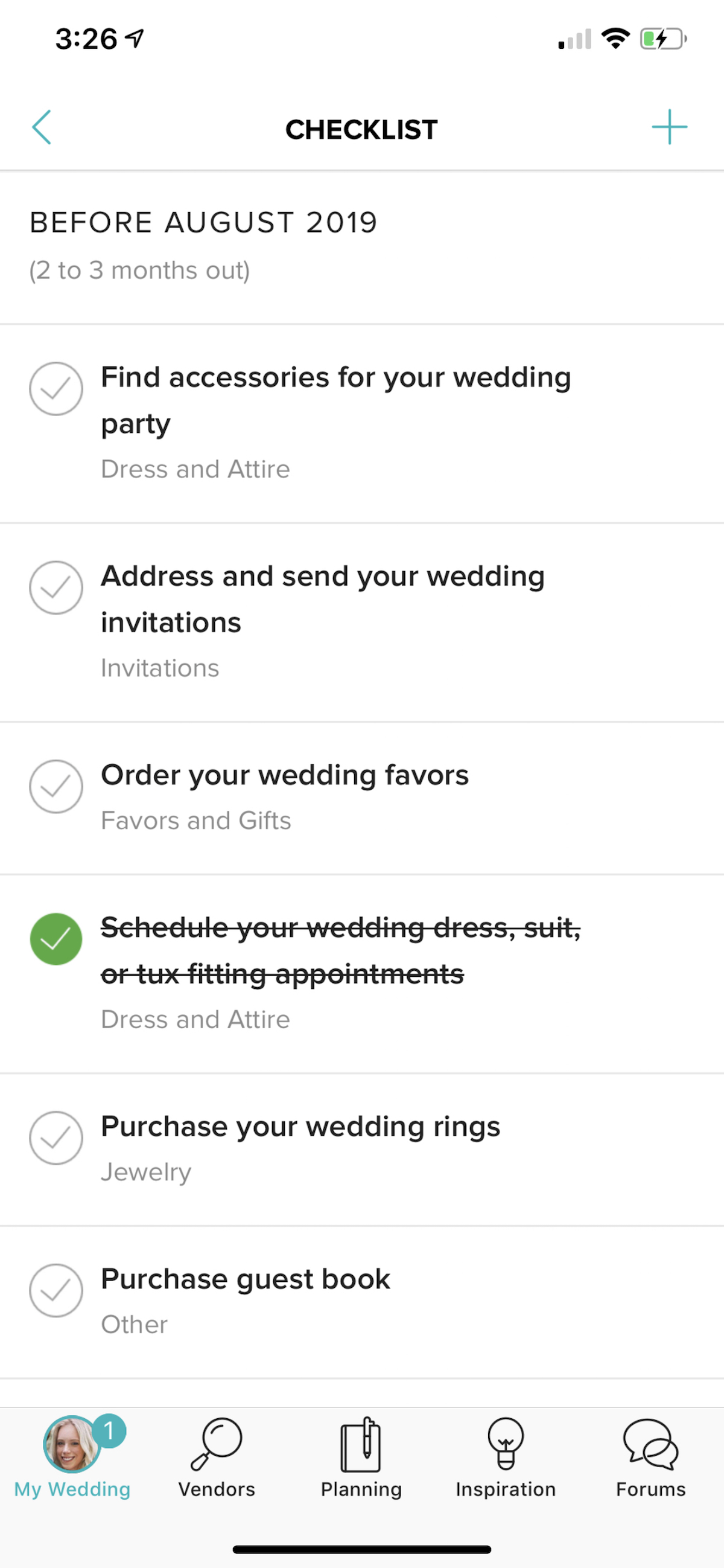 WeddingWire app