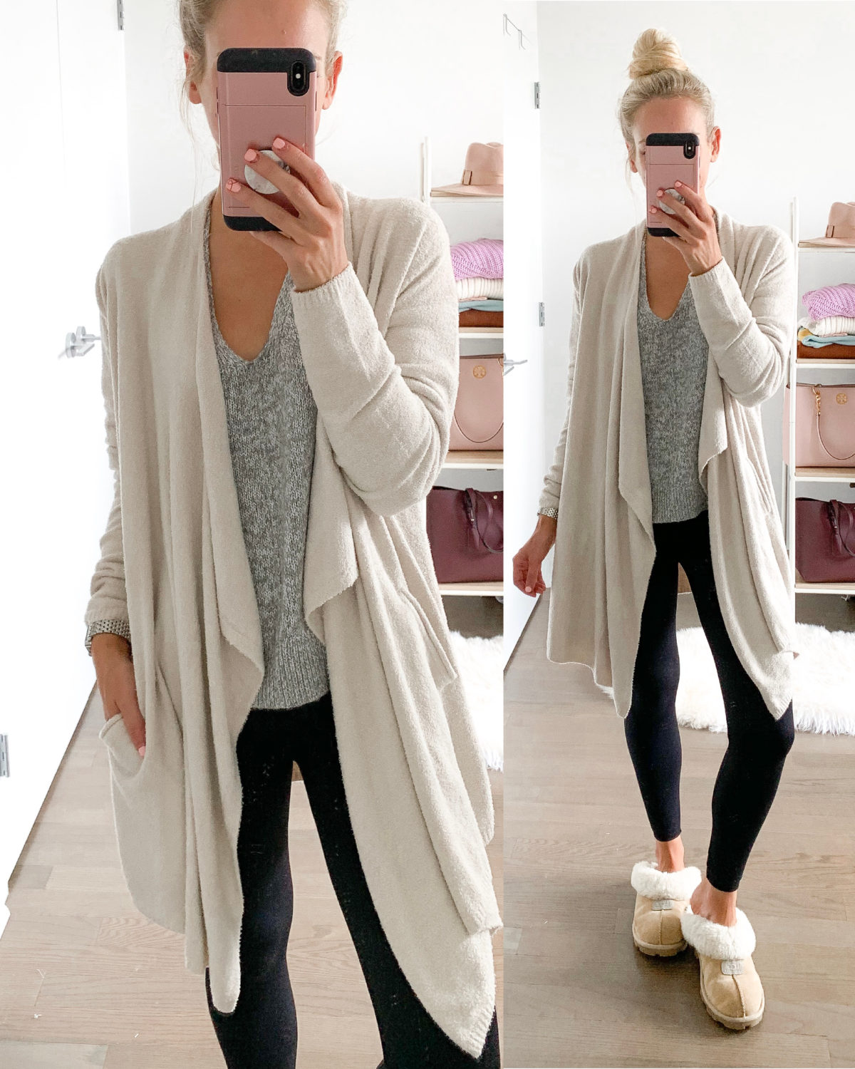 """Barefoot Dreams SIZE INFO XS=0-2, S=4-6, M=8-10, L=12-14, XL=16. DETAILS & CARE A long lounge cardi is made from a sumptuous, lightweight knit that keeps you cozy around the house or out on errands. 33 1/2"""" length (size Medium) Open front Long sleeves Front patch pockets 75% nylon, 25% rayon Machine wash, tumble dry Imported Lingerie Item #5825381 Free Shipping & Returns See more GIFT OPTIONS Get free gift wrap when you pick up your order at a Nordstrom store! Choose gift options when you check out. Some items may not be eligible for certain gift wrap options. Pickup & In-Store Gift message (free) DIY gift kit (free) Packaged in a Nordstrom box (free) Wrapped with signature gift wrap (free) Delivery Gift message (free) DIY gift kit ($2) Packaged in a Nordstrom box ($3) Need help finding the perfect gift? We've got you covered. Shop Gifts BAREFOOT DREAMS® Barefoot Dreams® was founded in 1994 by Annette Cook. She sought out the softest flannels, silkiest washable satins and coziest knits in an array of colors that were both elegant and soothing to the senses. Today's Barefoot Dreams collection features blankets and quilts, newborn and toddler wear, distinctive accessories and a range of products for grownups. CozyChic Lite Long Cardigan"""