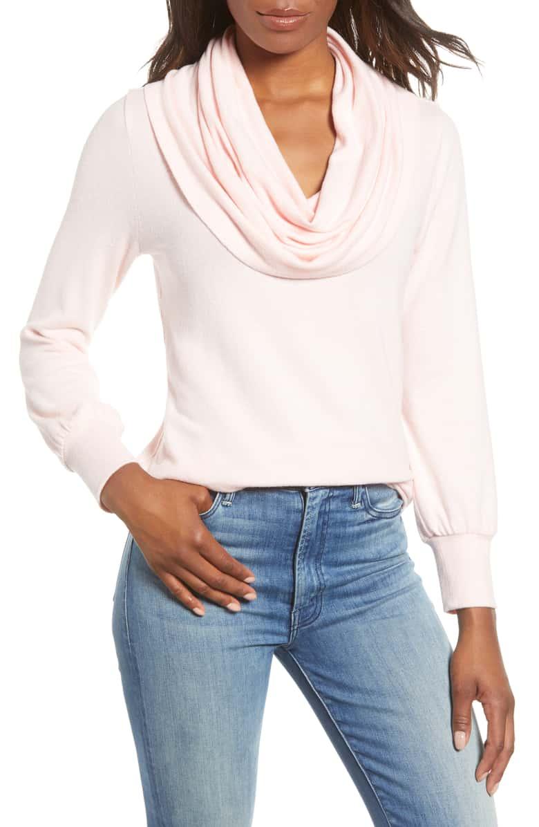 Gibson Fleece Convertible Neck Sweatshirt