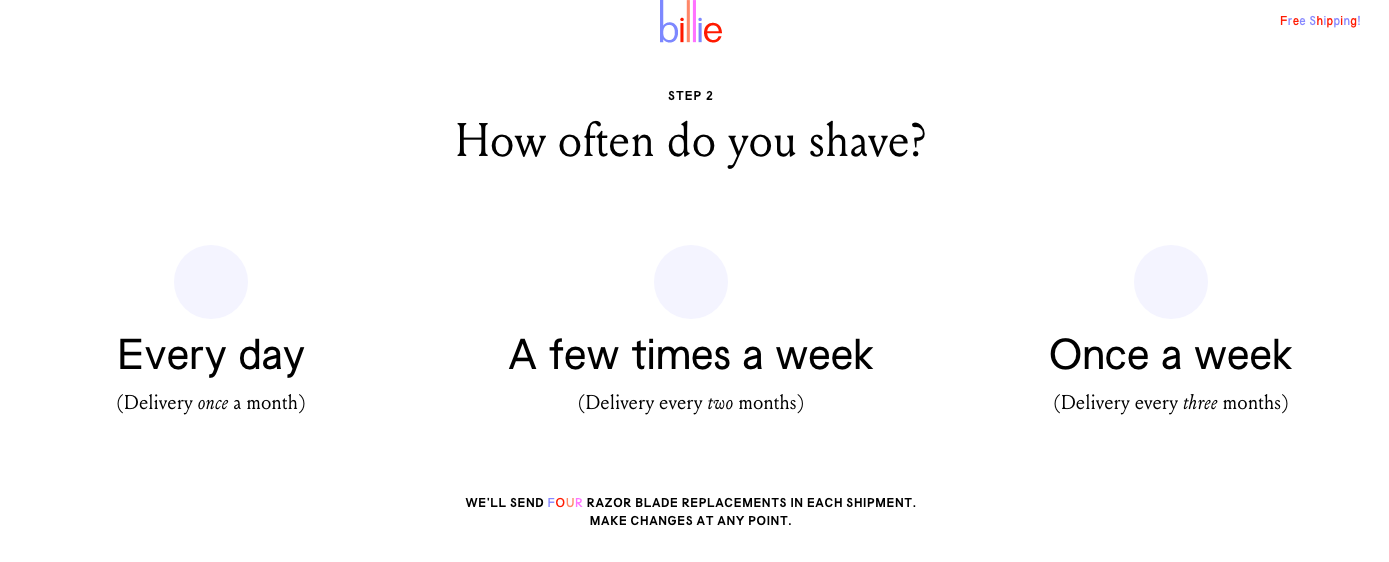 Billie Razor Subscription