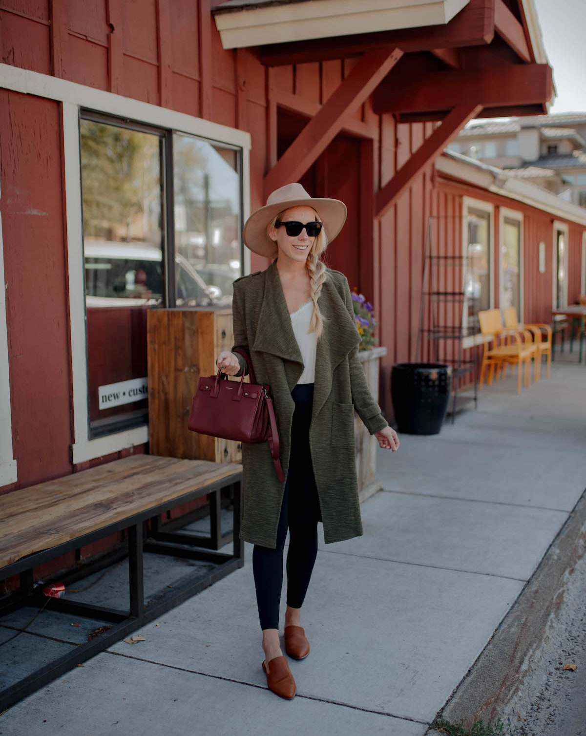BB Dakota Green Duster Jacket