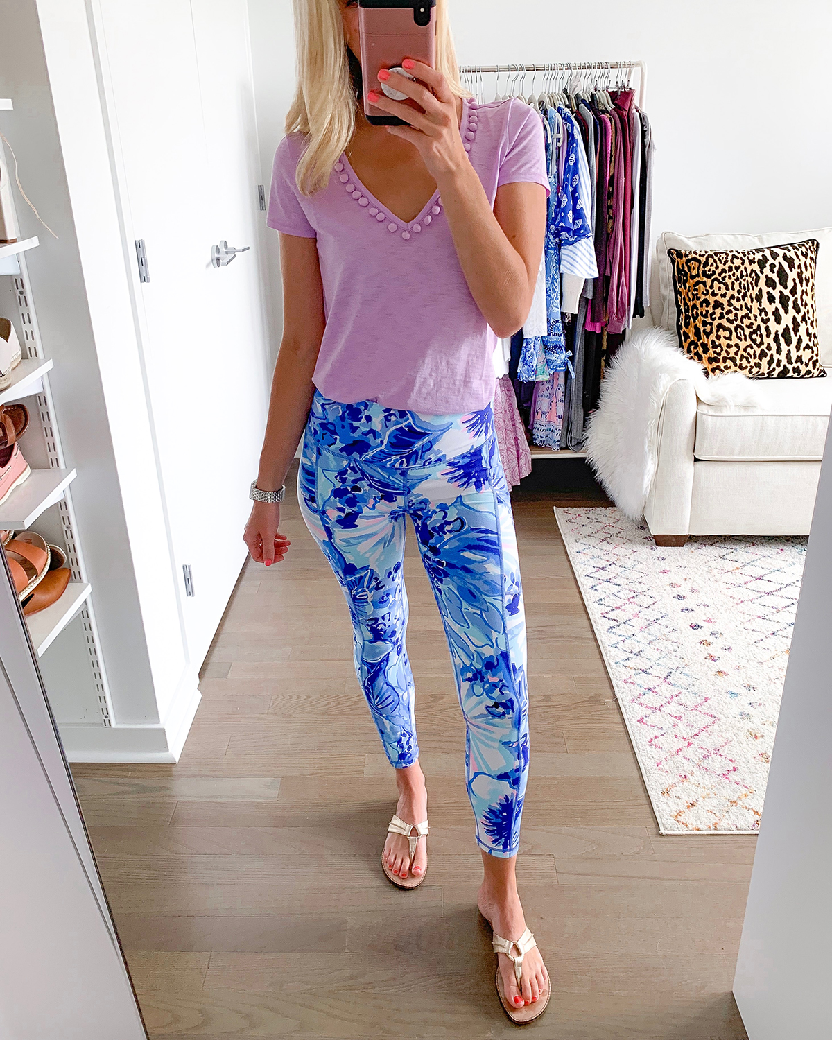 Lilly Pulitzer High Rise Weekender Midi Legging