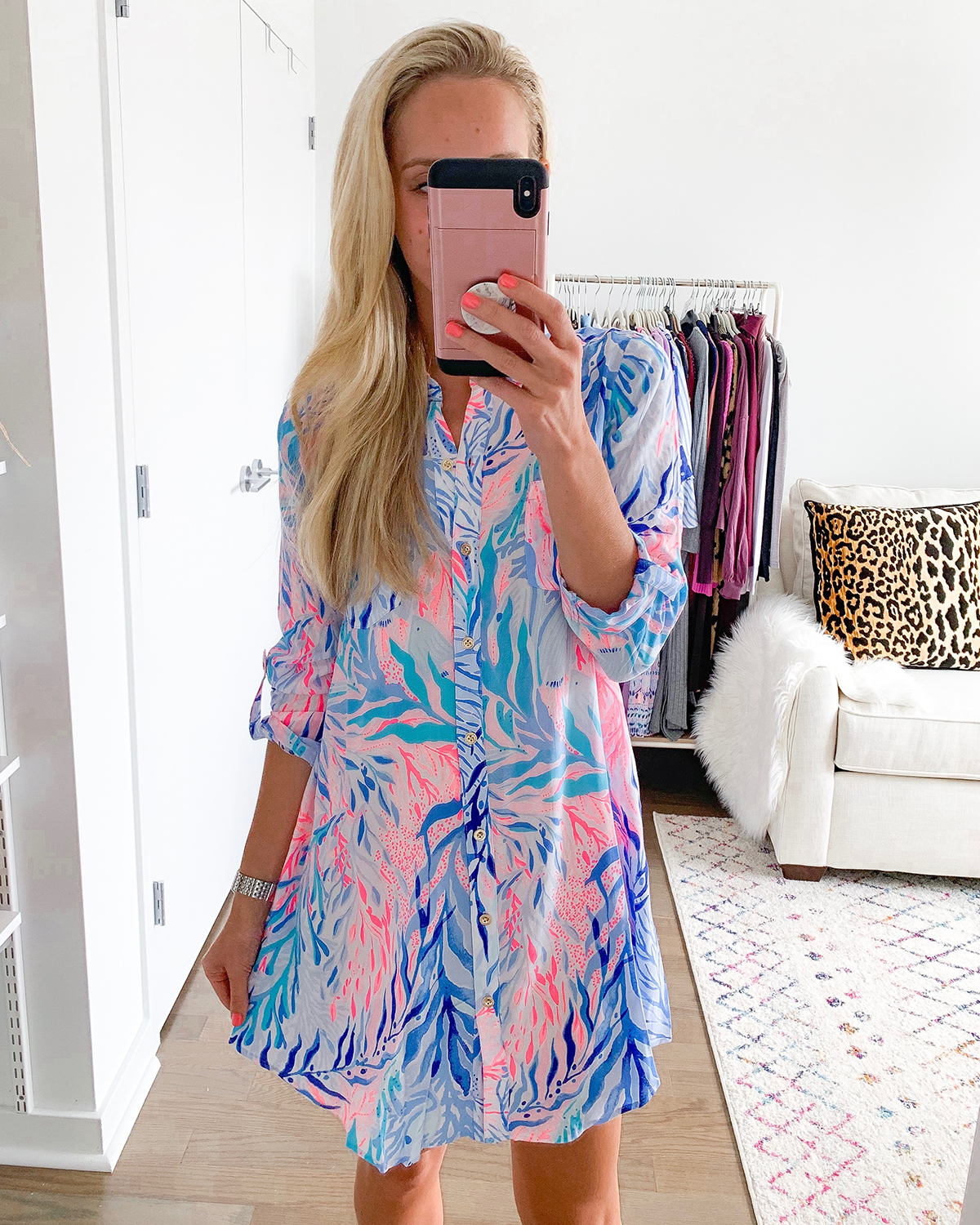 Lilly Pulitzer Natalie Shirtdress Cover-Up