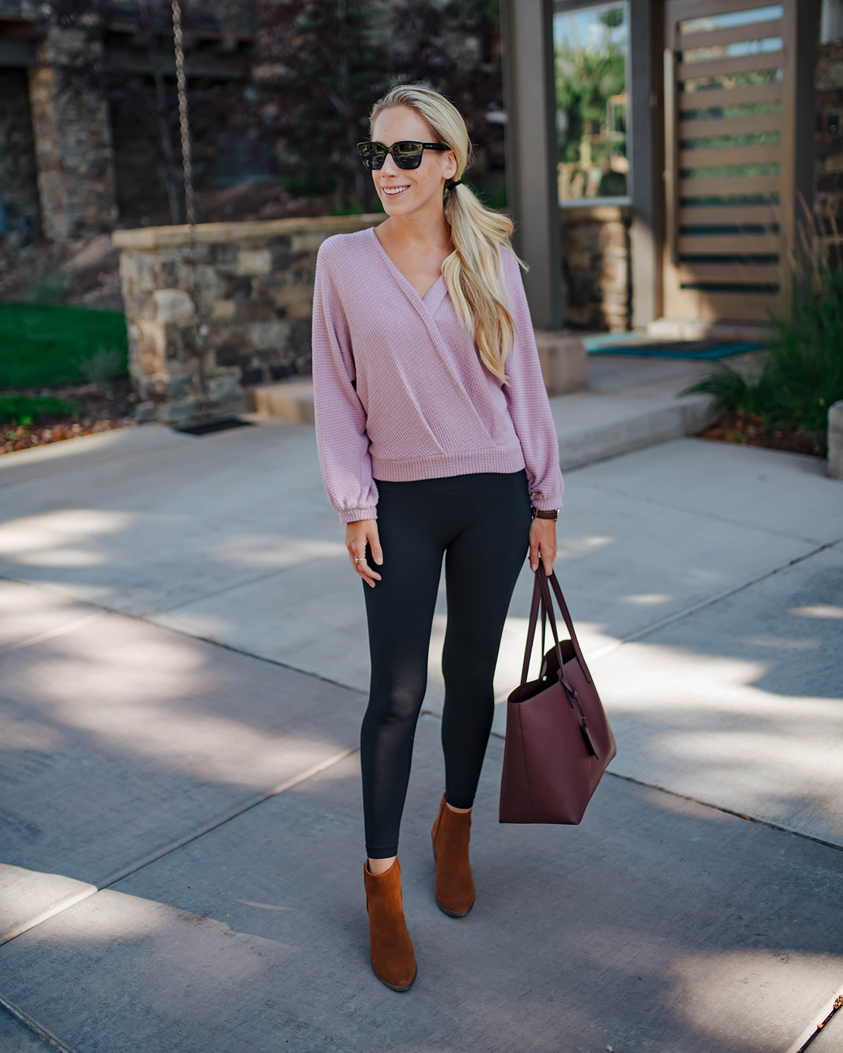 Purple Wrap Sweater