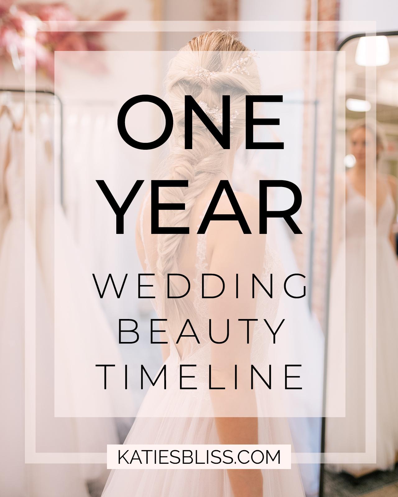 Katies Bliss Wedding Beauty Timeline
