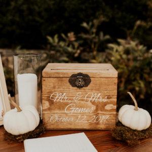 Personalized Wedding Card Box