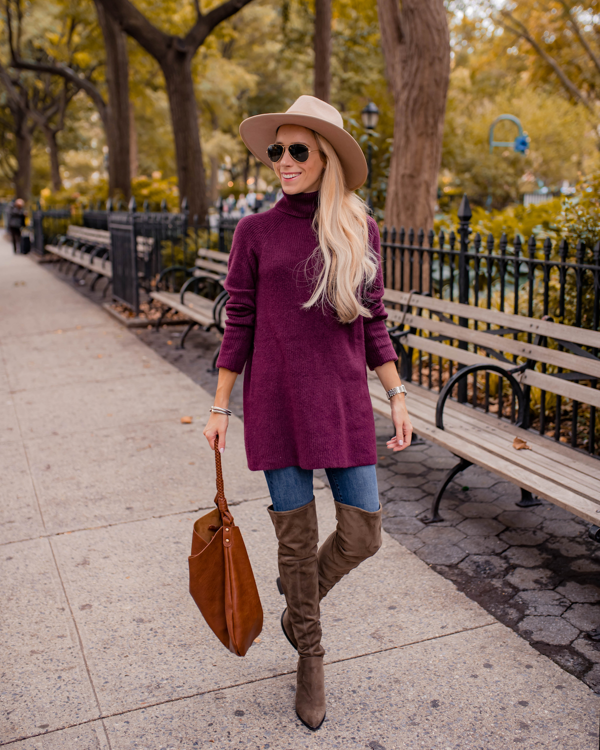 Purple Tunic Sweater