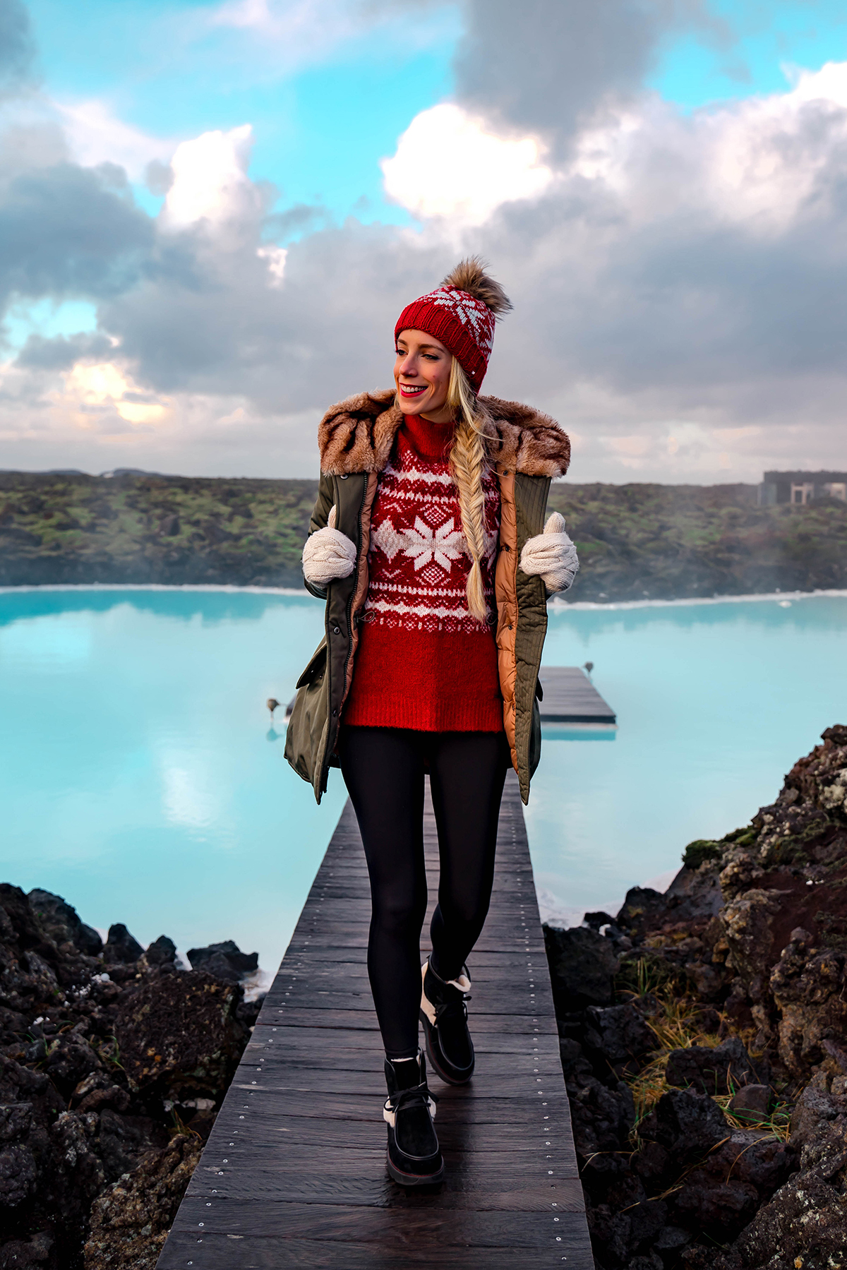 Abercrombie Holiday Red Sweater