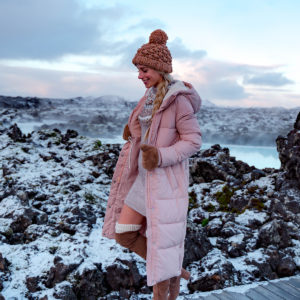 Abercrombie Pink Puffer Coat