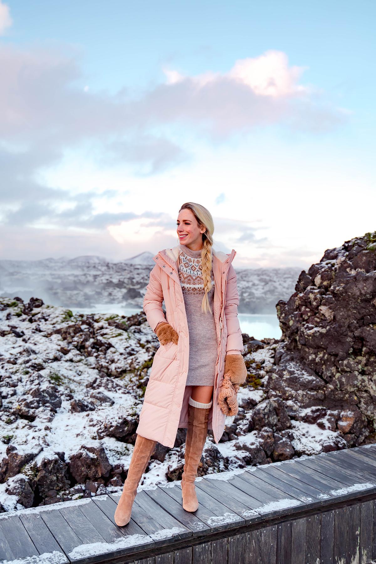 Abercrombie Pink Puffer Coat