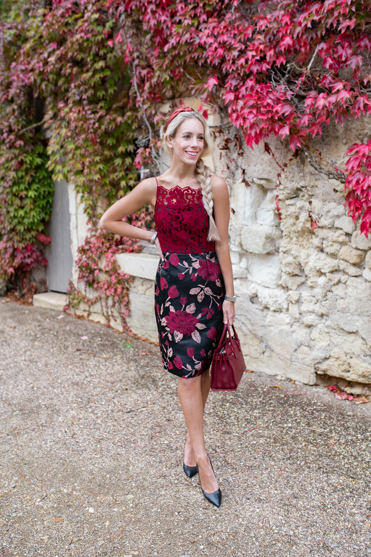 Anthropologie Red Lace Dress