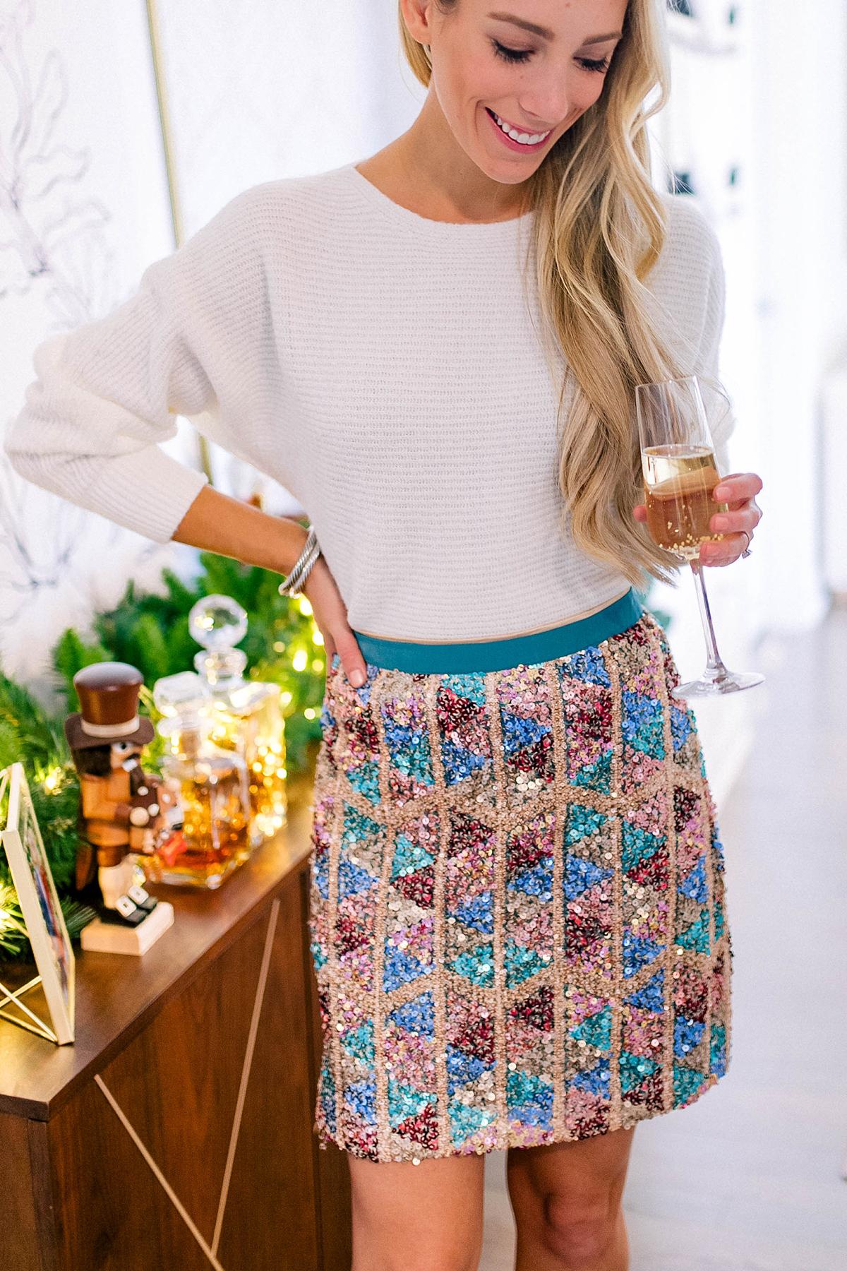 Anthropologie Sequin Skirt