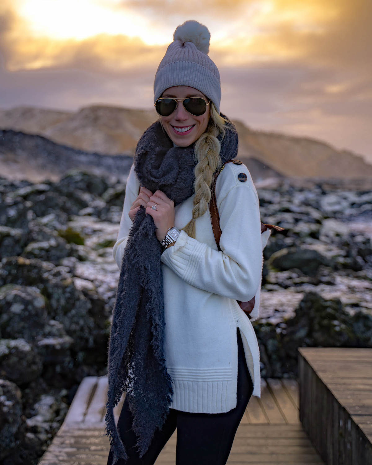 Anthropologie Sweater & Scarf