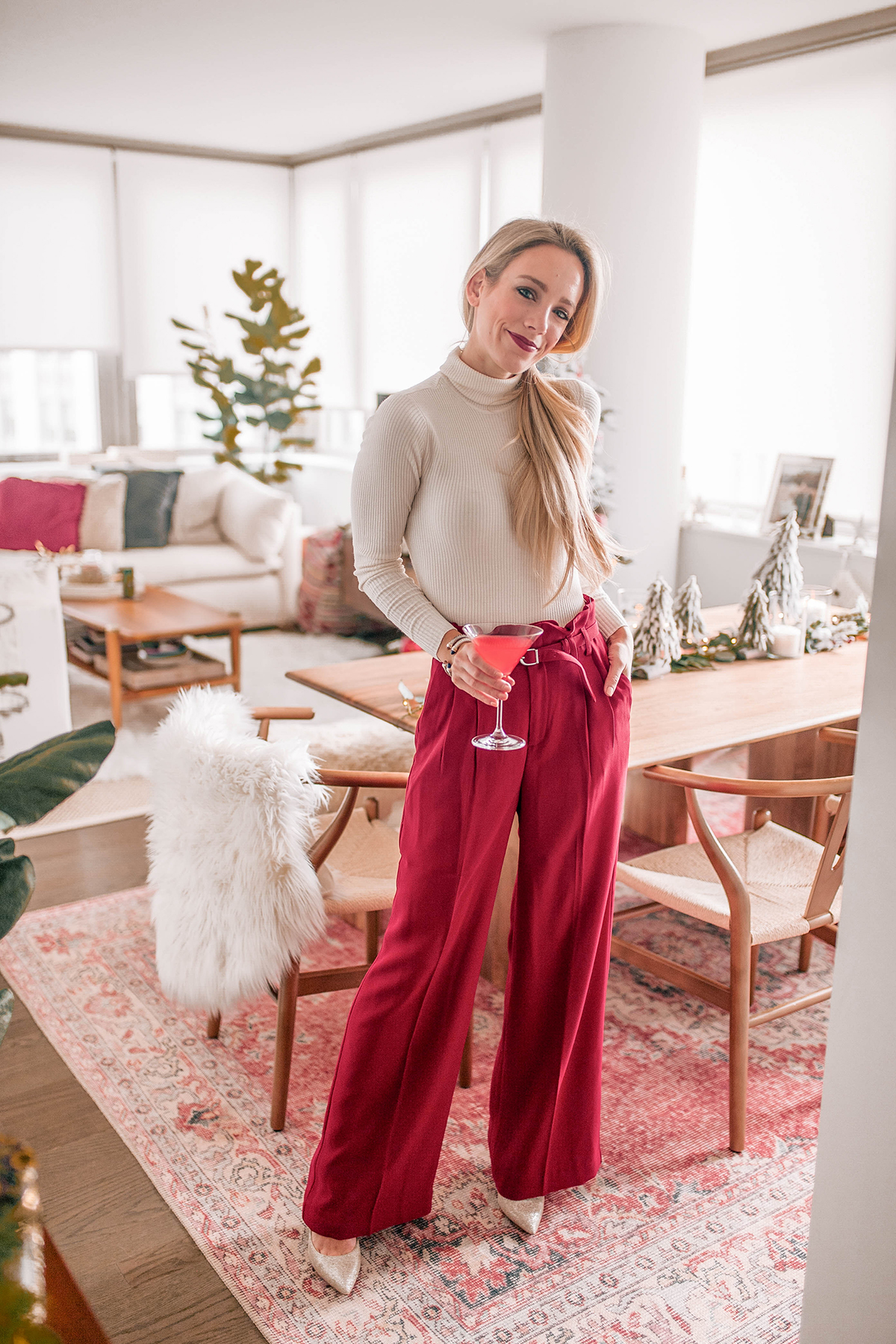 Express High Waisted Red Pants