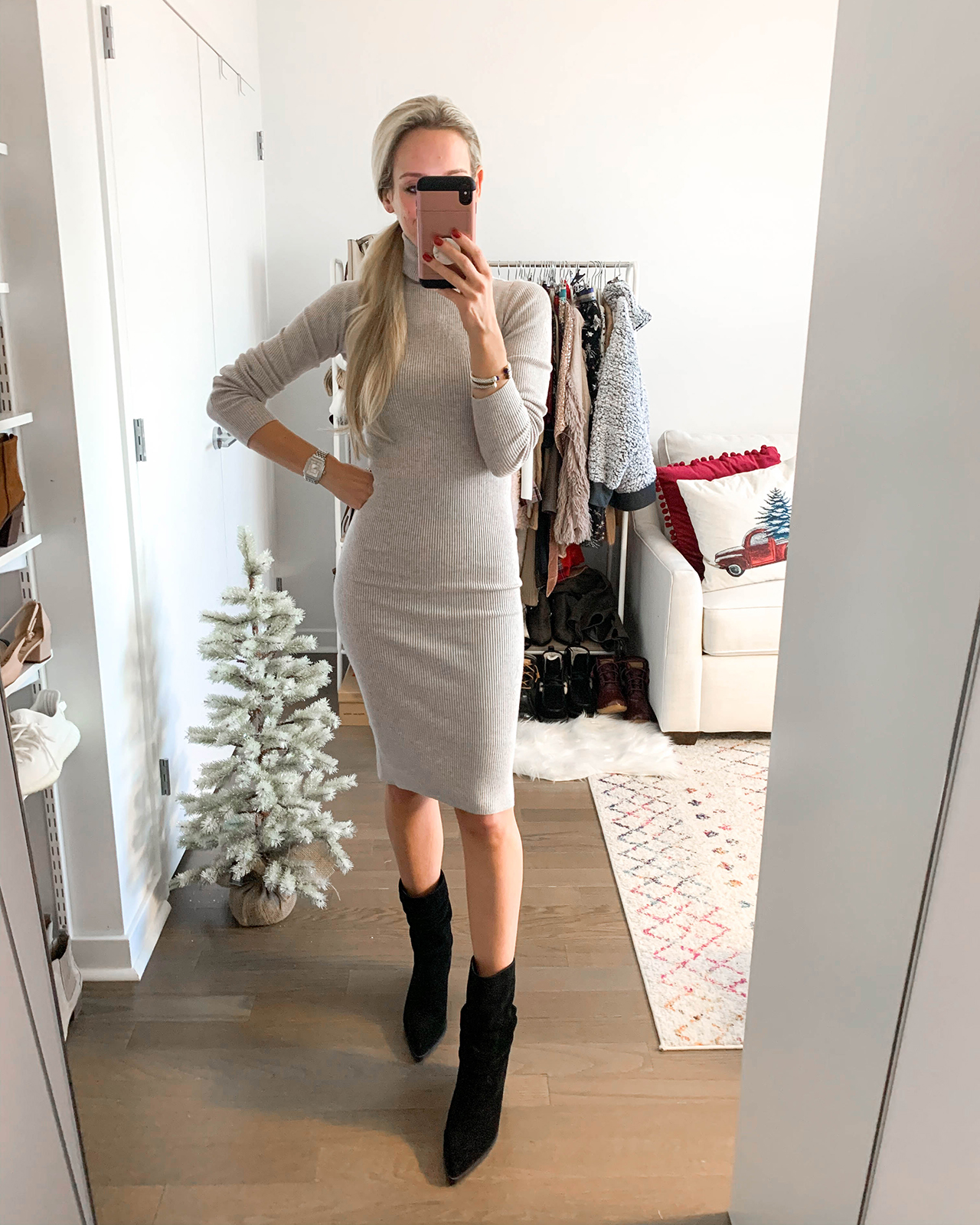 Express Turtleneck Sweater Dress