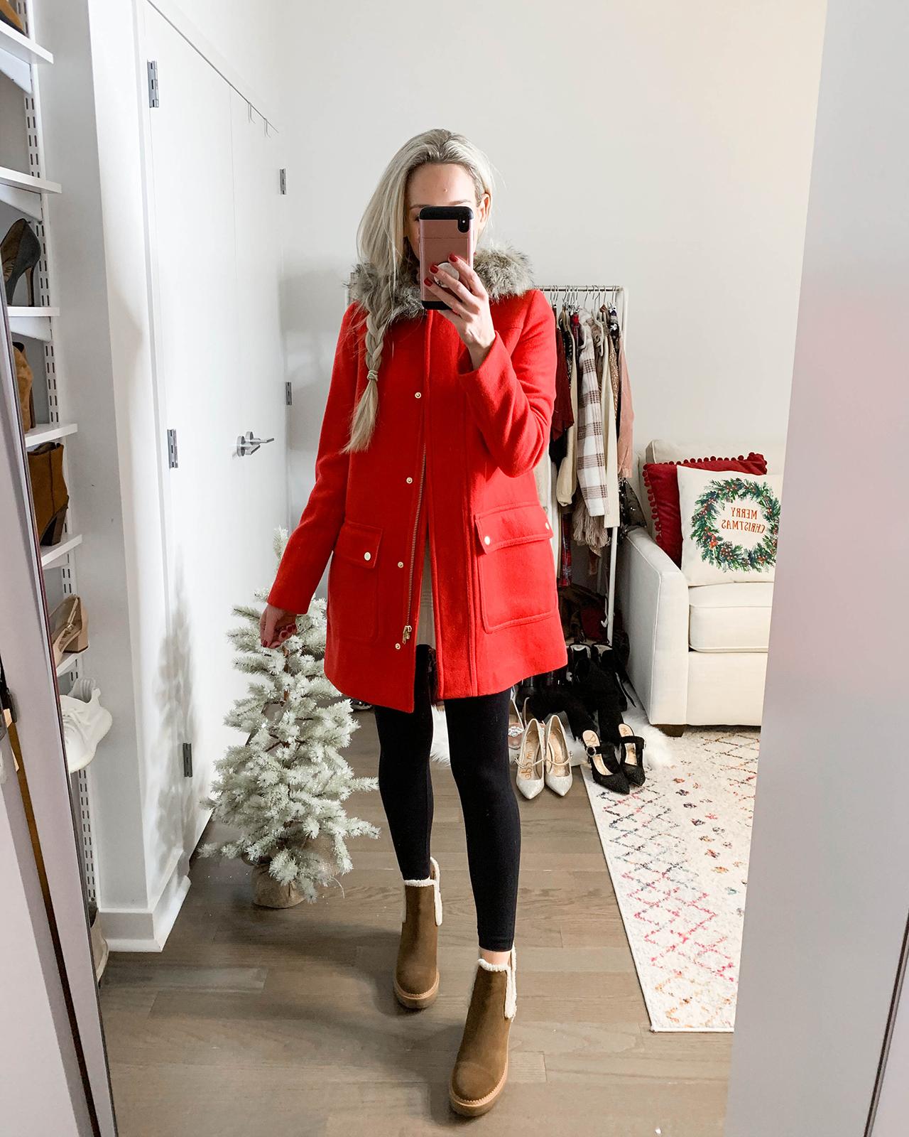 J Crew Red Winter Jacket