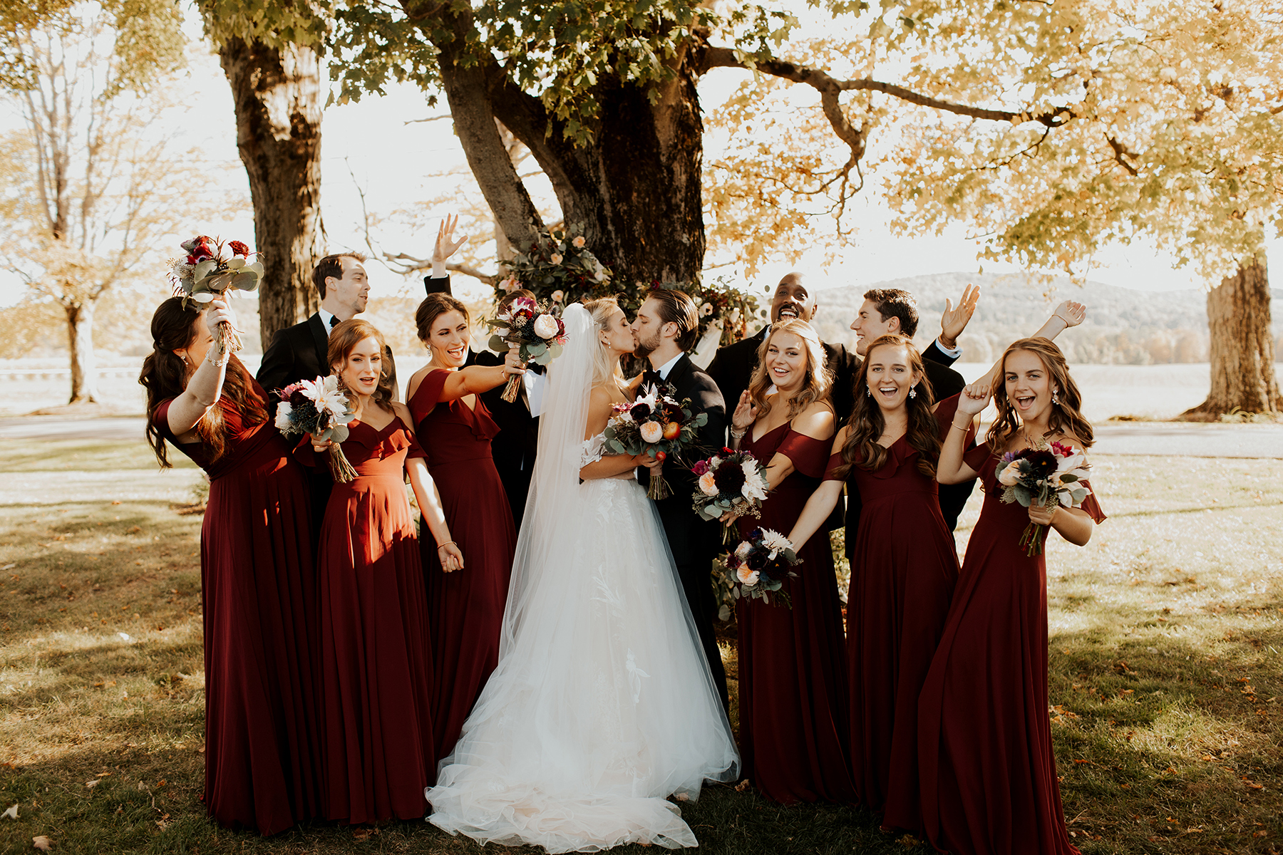 Katies Bliss Wedding Bridal Party Photos