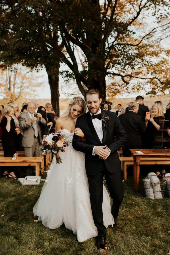 Katies Bliss Fall Wedding Ceremony