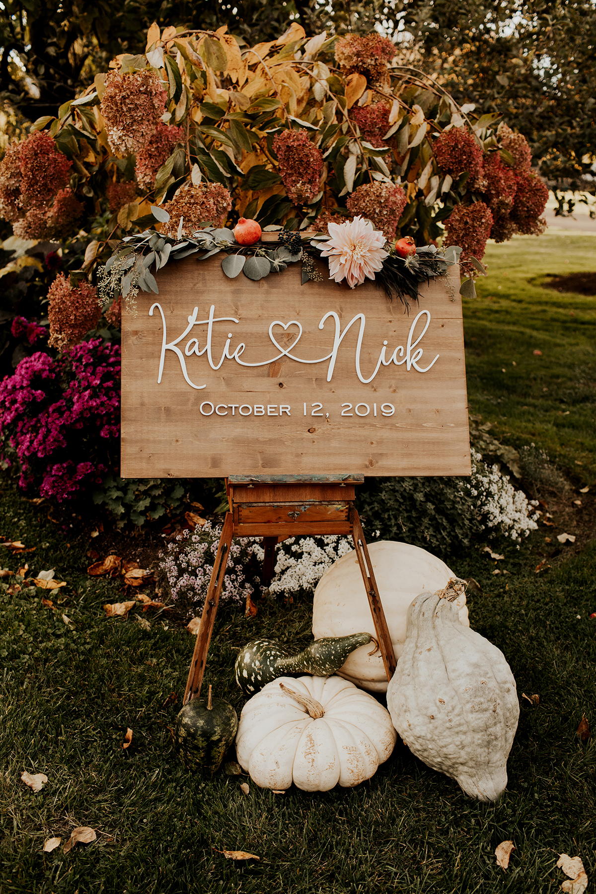 Katies Bliss Fall Wedding Ceremony