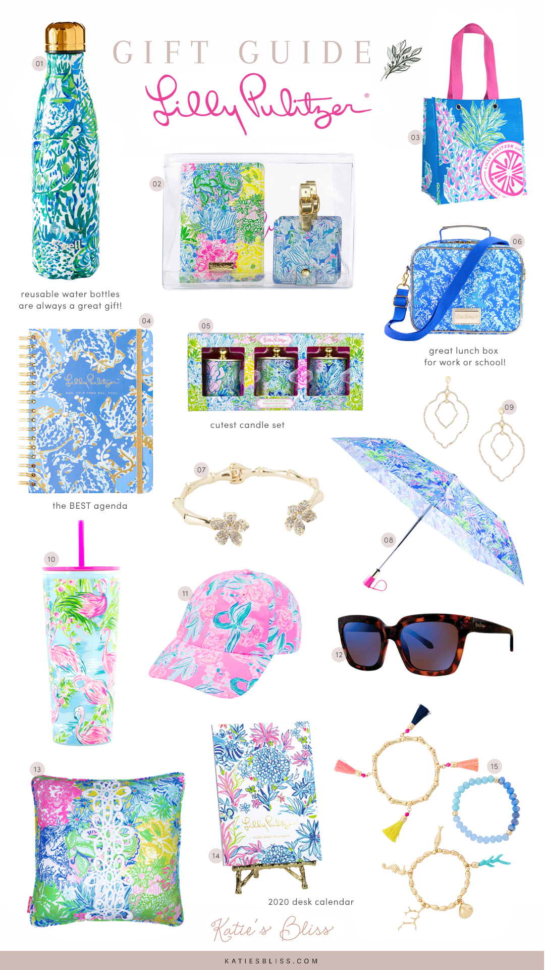 Lilly Pulitzer Holiday Gift Guide Under $50 | Katie's Bliss