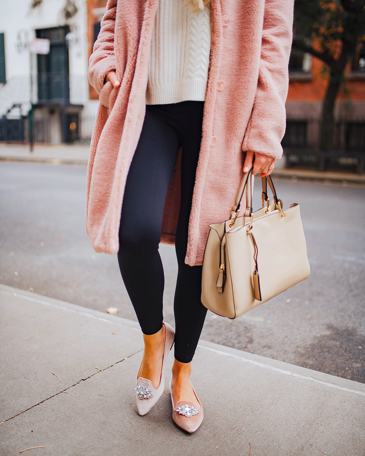Pink Coat and Pink Flats