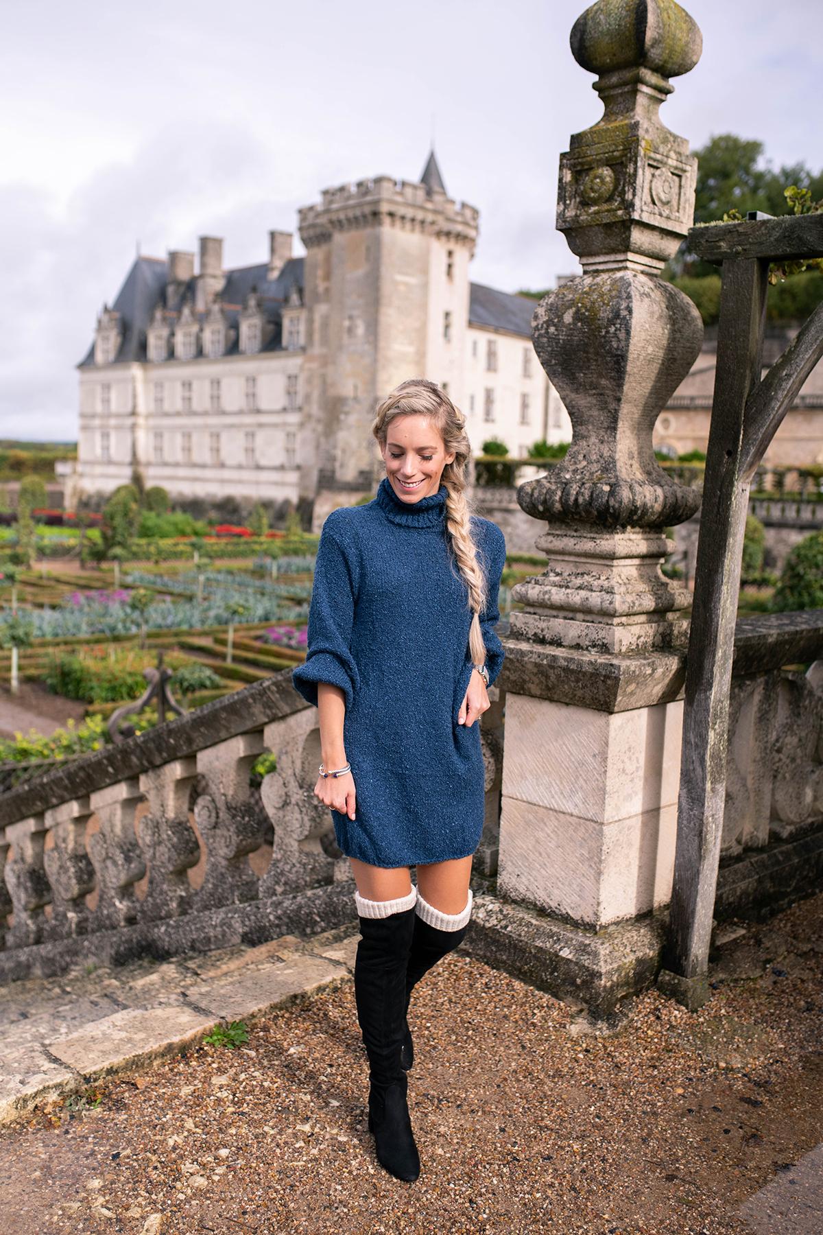 Revolve Blue Sweater Dress