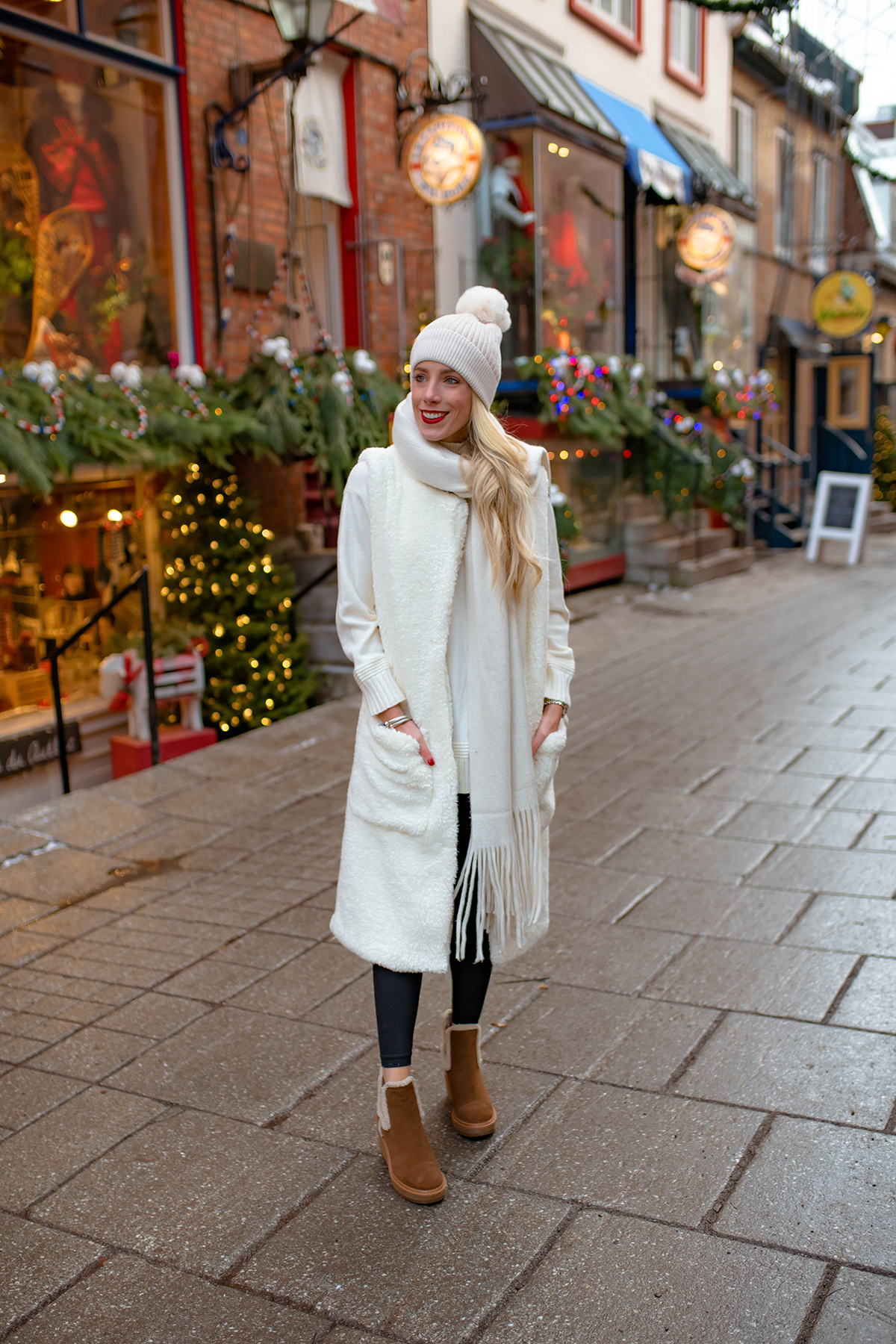 Anthropologie Long Sherpa Vest