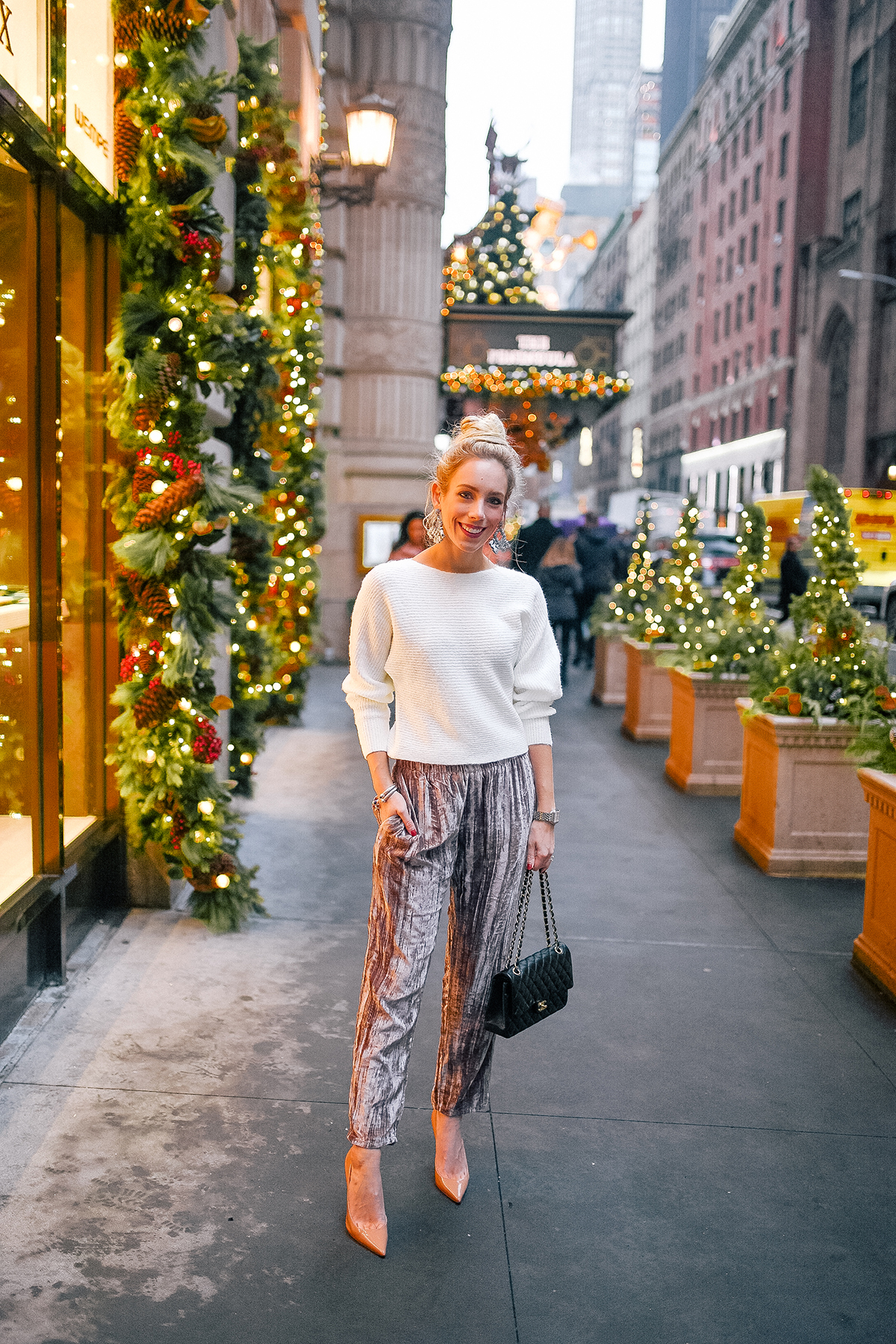 Anthropologie Velvet Pants